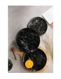Набор столовой посуды Marmory на 2 персоны, 8 предметов, цвет черный