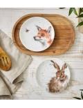 """Набор тарелок десертных """"Заяц и лиса"""" 16,5 см"""