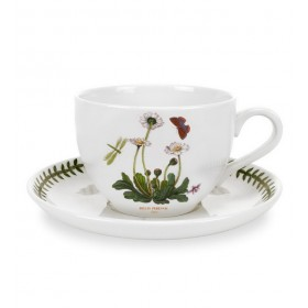 """Чашка для завтрака с блюдцем Botanic Garden """"Маргаритка"""" 500 мл"""