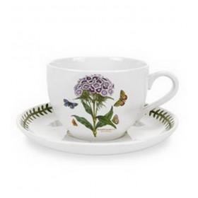 """Чашка для завтрака с блюдцем Botanic Garden """"Турецкая гвоздика"""" 500 мл"""