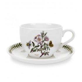 """Чашка для завтрака с блюдцем Botanic Garden """"Шиповник"""", 500 мл"""
