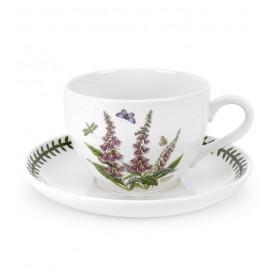 """Чашка для завтрака с блюдцем Botanic Garden """"Наперстянка"""" 500 мл"""