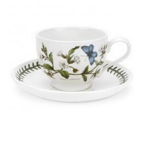 """Чашка для капучино с блюдцем Botanic Garden """"Дрёма белая"""" 280 мл"""