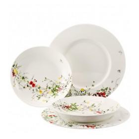 Тарелка столовая Brillance Fleurs Sauvages 28 см, с бортом