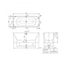 Ванна отдельностоящая Finion UBQ177FIN7A100V301