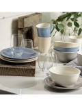 Набор посуды для завтрака Color Loop Natural на 4 персоны, 12 предметов
