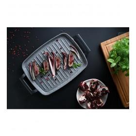 Сковорода-гриль с двумя ручками Ambiziosa 28х37 см