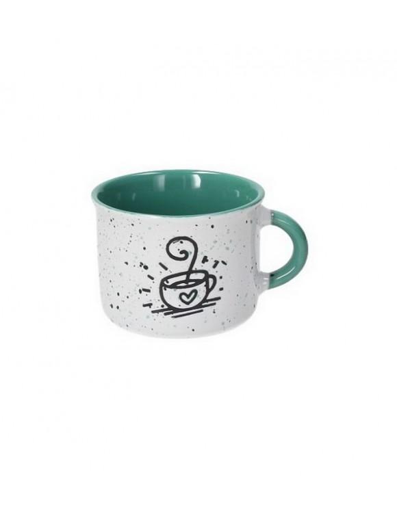 Чашка кофейная Happy 90 мл, цвет зеленый