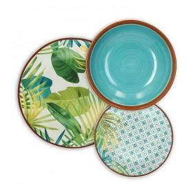Набор столовой посуды Metropolis Jungle, 18 предметов