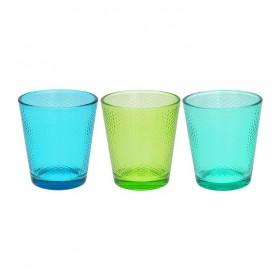 Набор цветных стаканов Linea Glass 340 мл, 3шт.
