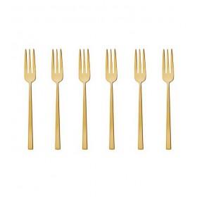 Набор вилок для пирожных/устриц Rock PVD Gold 6 шт.