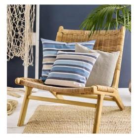 Чехол для подушки декоративной Hampton 40x40см (цвет синий)