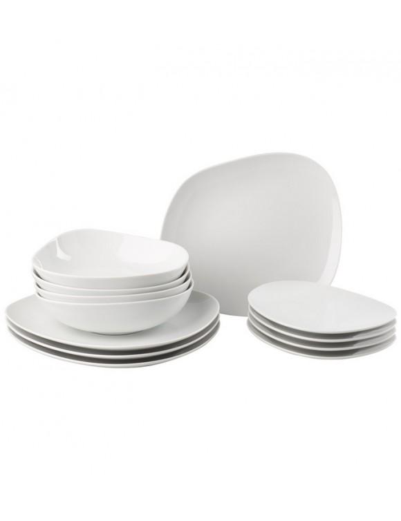 Набор столовой посуды Organic White на 4 персоны, 12 предметов