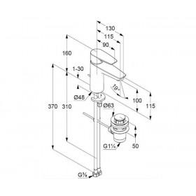 Смеситель для раковины Zenta SL 482980565
